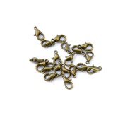 25pcs Jewellery Making Charms Jewellery Charme Antique Bronze Tone Fashion Finding for Necklace Bracelet Pendant Crafting Earrings SZ053 Lobster Clasps