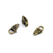 2pcs Jewellery Making Charms Jewellery Charme Antique Bronze Tone Fashion Finding for Necklace Bracelet Pendant Crafting Earrings PU071 Flower Lobster Clasps