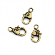 50pcs Jewellery Making Charms Jewellery Charme Antique Bronze Tone Fashion Finding for Necklace Bracelet Pendant Crafting Earrings YI039 Heart Lobster Clasps