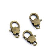 120pcs Jewellery Making Charms Jewellery Charme Antique Bronze Tone Fashion Finding for Necklace Bracelet Pendant Crafting Earrings QJ031 Plum Lobster Clasps