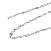 HooAMI Stainless Steel Silver Necklace Bracelet Extender Chain Jewellery Findings 2M(200cm ) Length