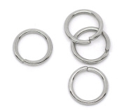 HooAMI Stainless Steel 1.2mm Open Jump Rings for Jewellery Making Findings Silver Tone 10mm, 50pcs