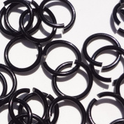 BLACK Anodized Aluminium Jump Rings 150 5/16 16g SAW CUT