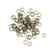 180pcs Jewellery Making Charms Jewellery Charme Antique Brass Tone Fashion Finding for Necklace Bracelet Pendant Earrings Repair DIY QG014 Jump Rings 7mm
