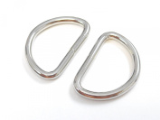 ljdeals Metal D Ring 2.5cm Non Welded Nickel Plated Pack Of 50
