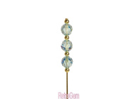 Sparkle Faceted Crystal Beaded Hat Pin Made With Blue. Crystal