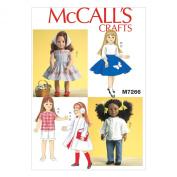 McCall's 46cm Retro Doll Clothes - Size
