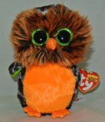 NEW! 2015 TY Beanie Boos MIDNIGHT - Halloween OWL 15cm IN HAND