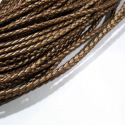 3mm PU Leather Braided Cord Bronze Colour 40m String 4008 Knotting Stringing