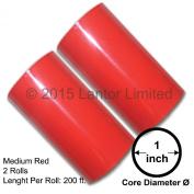 Hot Stamp Foil Stamping Tipper Kingsley 2 Rolls 7.6cm x 60m Medium Red