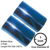 Hot Stamp Foil Stamping Tipper Kingsley 2 Rolls 7.6cm x 60m Brilliant Blue