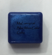1 Blue Mica Colour Block for Melt and Pour Soap DIY Colourant Tint Cube Mp Melted Bath Clear Bar Dye