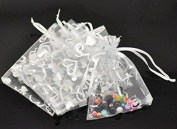 Hearts Wedding Gift Bag Pouches, 100 PC