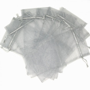 20x Wine Bags Organza Fabric Gift Party Bags Large 38cm By 17cm Silver