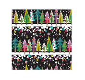 International Greetings Jumbo Roll Gift Wrapping Paper, Tree Line