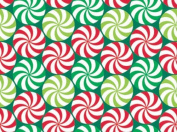 Peppermint Swirl Red & Green Gift Wrap Flat 60cm X 1.8m