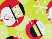 Jolly Snowman Festive Christmas Gift Wrap Flat 60cm X 1.8m