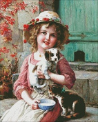 New friends,14ct 240*300stitch,54*65cm cross stitch kits counted cross stitch kits