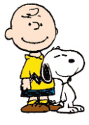 Peanuts Charlie Brown and Snoopy Counted Cross Stitch Pattern