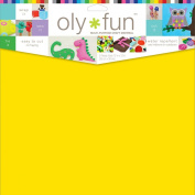 Fairfield Oly Fun Multipurpose Lemon Drop Craft Material (3 Pack), 30cm by 30cm