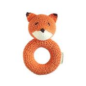 Cheengoo Organic Crocheted Fox Ring Rattle