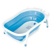 Baby Trend Karibu Folding Bath Tub, Blue/White by Baby Trend