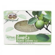 New Abhabibhubejhr Thai Guava Leaves Soap 100 G. Thailand Product