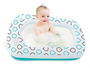 Shrunks Classic Inflatable Travel Infant Toddler Bath Tub w/ Headrest & Pockets