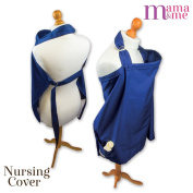 Nursing Cover Bundle for Breastfeeding Baby, 100% Cotton, Free Storage Bag, Luxurious Washcloth & Ebook. Three Pockets for Baby Teether's, Toys or Nappy. Fully Adjustable Backstrap, Neckstrap and Large Size for Complete Coverage and Security. Breastfe ..