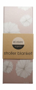 Milkbarn (Zebi Baby) Organic Cotton Stroller Blanket - Rose Floral