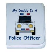 CafePress Daddy Is A Police Officer baby blanket - Standard Sky Blue