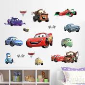 MLMSZ 3D Cartoon Colourful Car Wall Stiker Creative Removable Vinyl Wall Sticker Mural Decal Art Décor