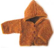 KSS Handmade Copper Coloured Hooded Sweater/Jacket
