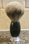BEST BADGER MEN'S SHAVING BRUSH with Sandalwood and Polished Chrome Handle