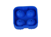 bouti1583 Innovative Four Holes Ball Silicone Ice Mould With Lid Ice Puck Hockey Grid Cocktail Special Mould