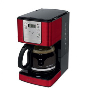 Mr. Coffee Red 12 Cup Programmable Coffee Maker