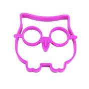 WHATWEARS Cute Silicone Owl Egg Fried Shaped Mould Shaper Ring Kitchen Cooking Tool