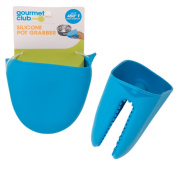 Silicone Oven Mitt Pinch Holders (Set of 2) -- Heat Resistant Pot Grabbers