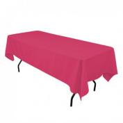 Tablecloth Polyester Rectangular Restaurant Line 140cm x 180cm Hot Pink By Broward Linens