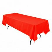 Tablecloth Polyester Rectangular Restaurant Line 140cm x 180cm Burnt Orange By Broward Linens