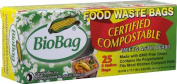BioBag Compostable Waste Bags, 11.4l - 25 count per box