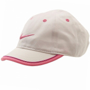 Nike Girl's Embroidered White Swoosh Logo Adjustable Hat Baseball Cap Sz