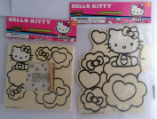 Hello Kitty Wood Craft Kits One Hello Kitty Stand Up and One Hello Kitty Picture Frame