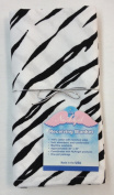 NuAngel Receiving Blanket, 100% Cotton Flannel, Zebra Print, Made in USA!