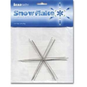 Metal Wire Snowflake Forms - Fun Craft Beading Project 9.5cm