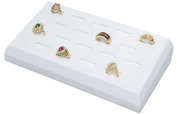 White Ring Tray Jewellery Display - Holds 18 Rings