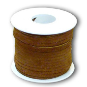 Springfield Leather Company 0.3cm x 25yd Suede Medium Brown Leather Lace