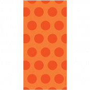 Sunkissed Orange Dots Cello Bags