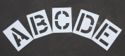 RAE - 30cm ALPHABET STENCIL KIT - Plastic Letters Paint Stencils, for Use with Any Paint - Great for Pavement Marking - STL-116-8125
