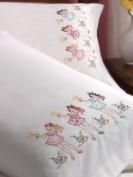 Bucilla 45371 Nightie Night Pillowcase Pair Stamped Embroidery Kit, 80cm by 50cm